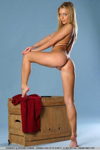 Кастинг красавицы Sharon для эротических фото в студии Met-Art