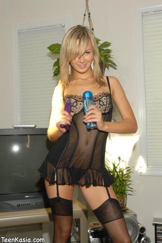 Kasia in black lingerie