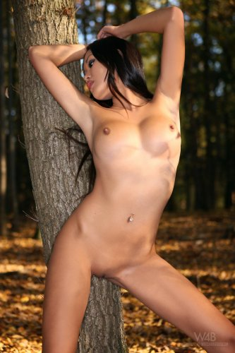 Davon Kim в осеннем лесу