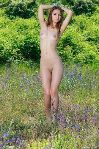 Izabel голышом на природе
